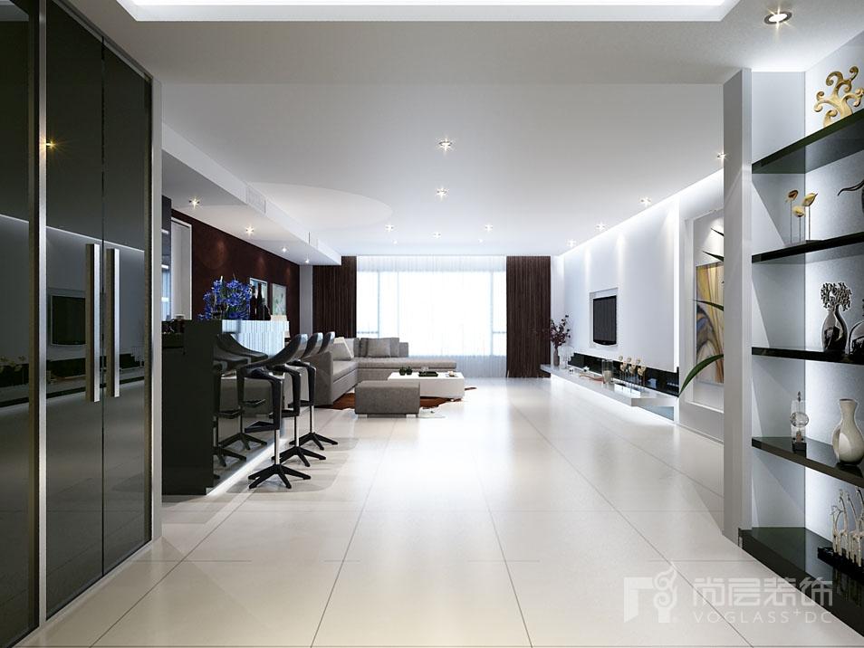 西山壹号院现代简约客厅别墅装修效果图