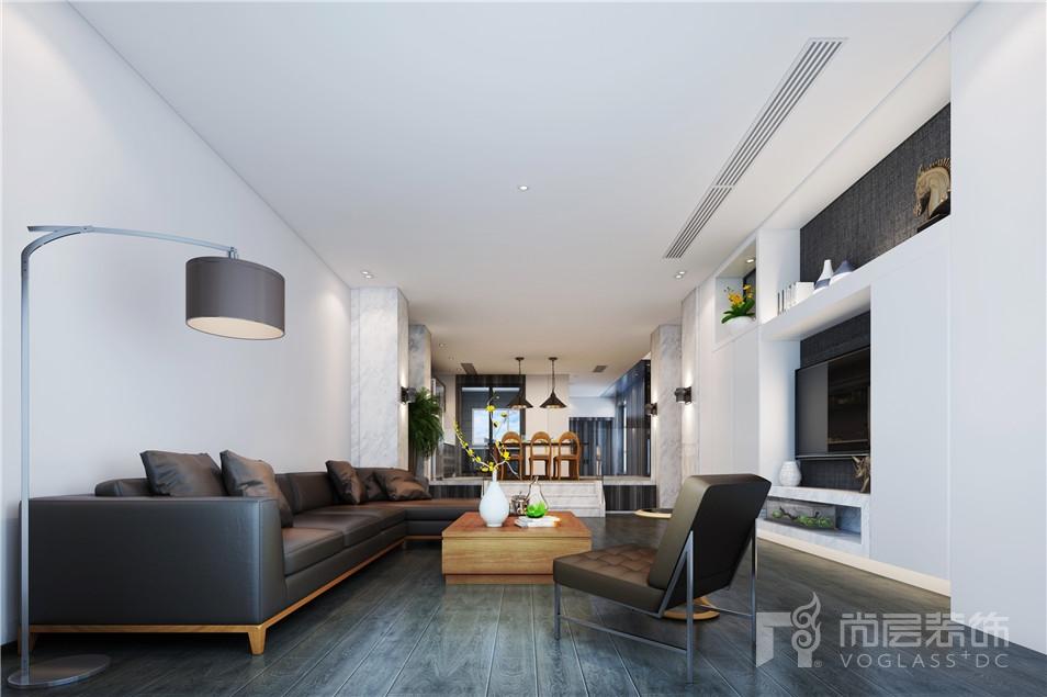 花都艺墅欧式现代简约风格客厅效果图