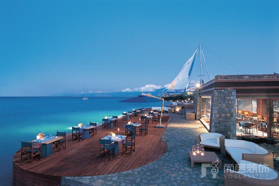 尚层装饰别墅生活希腊克里特岛酒店的美丽风景