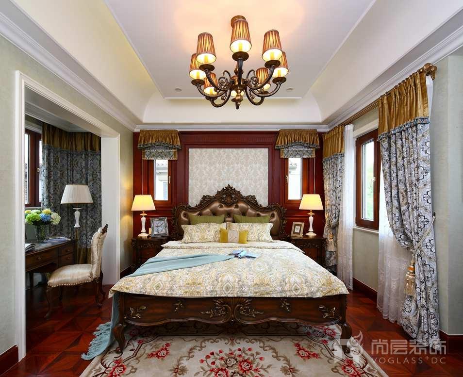 御汤山美式卧室别墅装修效果图