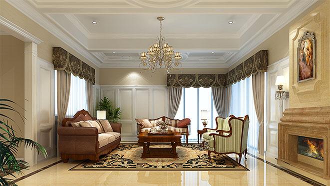 大山地美式风格别墅设计