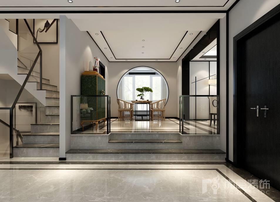 北京湾中式茶室别墅装修效果图