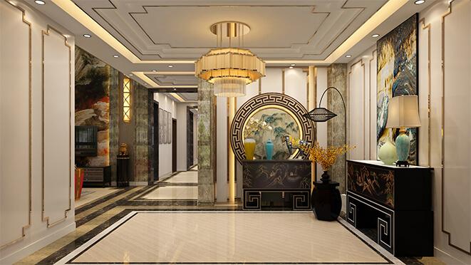 新中式别墅设计效果图