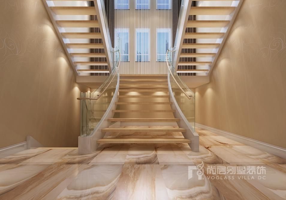 中海尚湖世家现代楼梯间别墅装修效果图