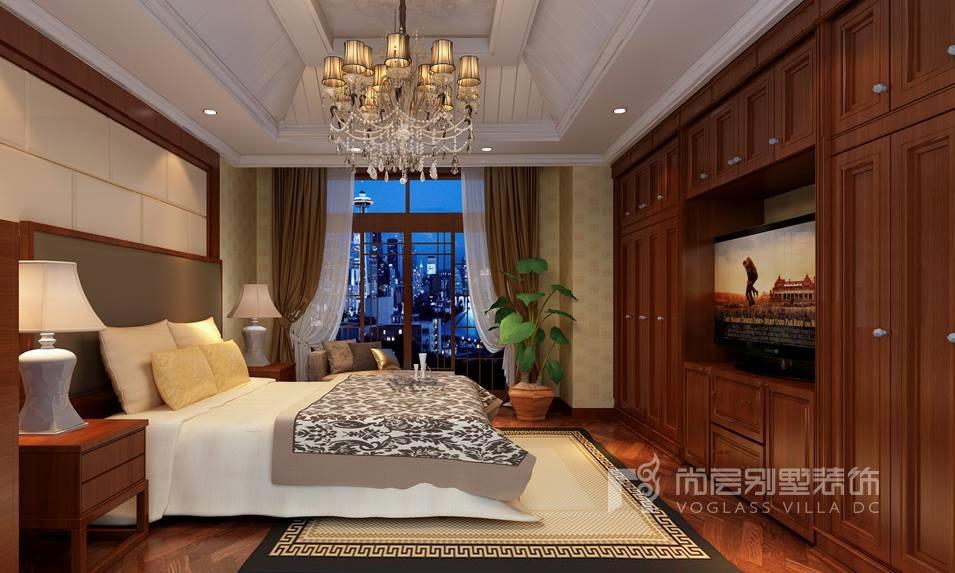 中式别墅窗帘装修效果图