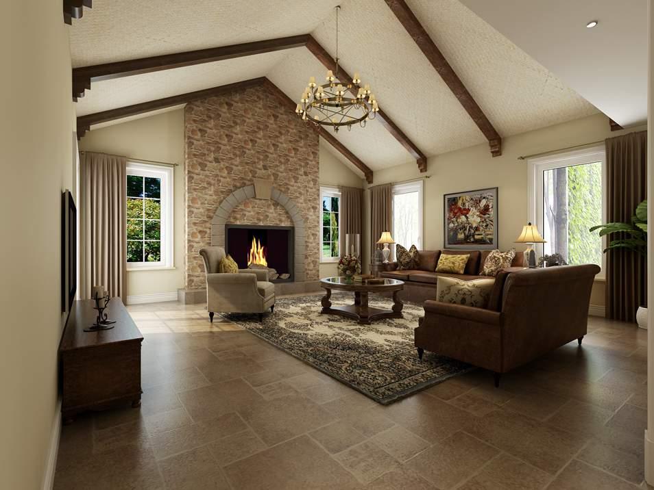 橘郡别墅简美式客厅装修效果图