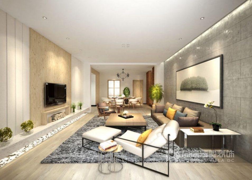 燕西华府300平米别墅装修案例-现代简约风的禅意生活