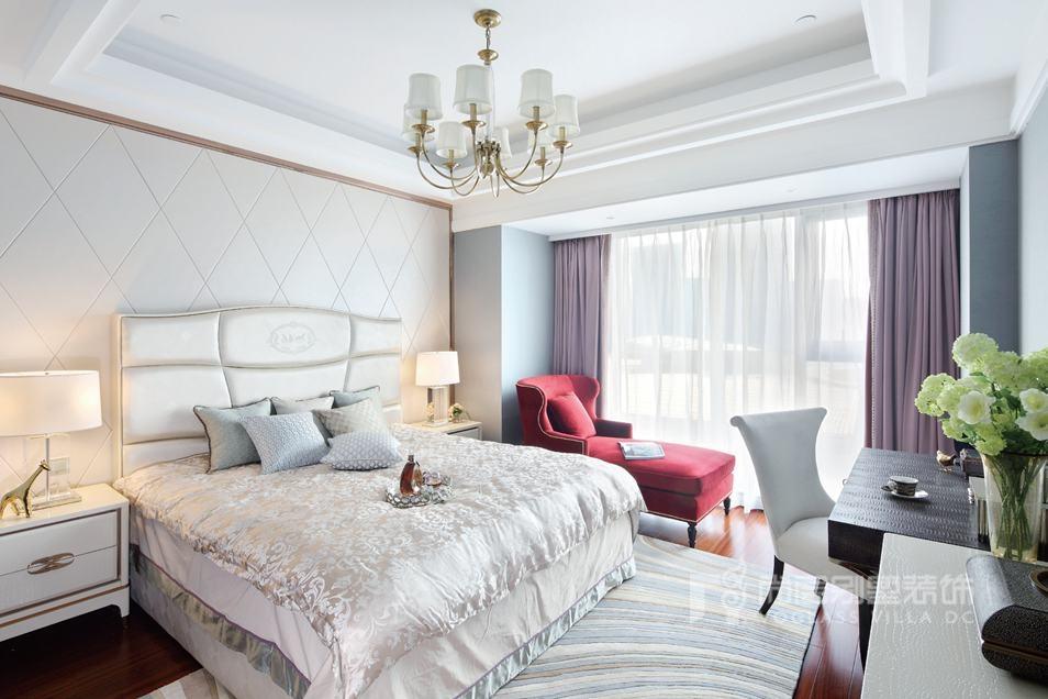 别墅装修方案卧室实景图