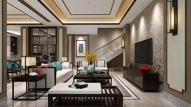 水韵别墅新中式风格演绎独栋别墅装饰设计
