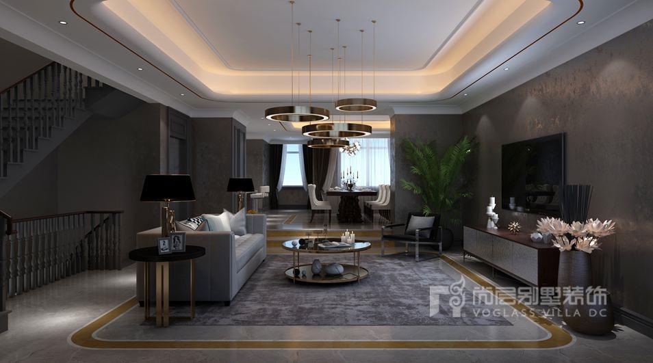 别墅空间设计客厅效果图