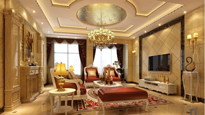 荣御之邸270平米欧式豪华装修效果图