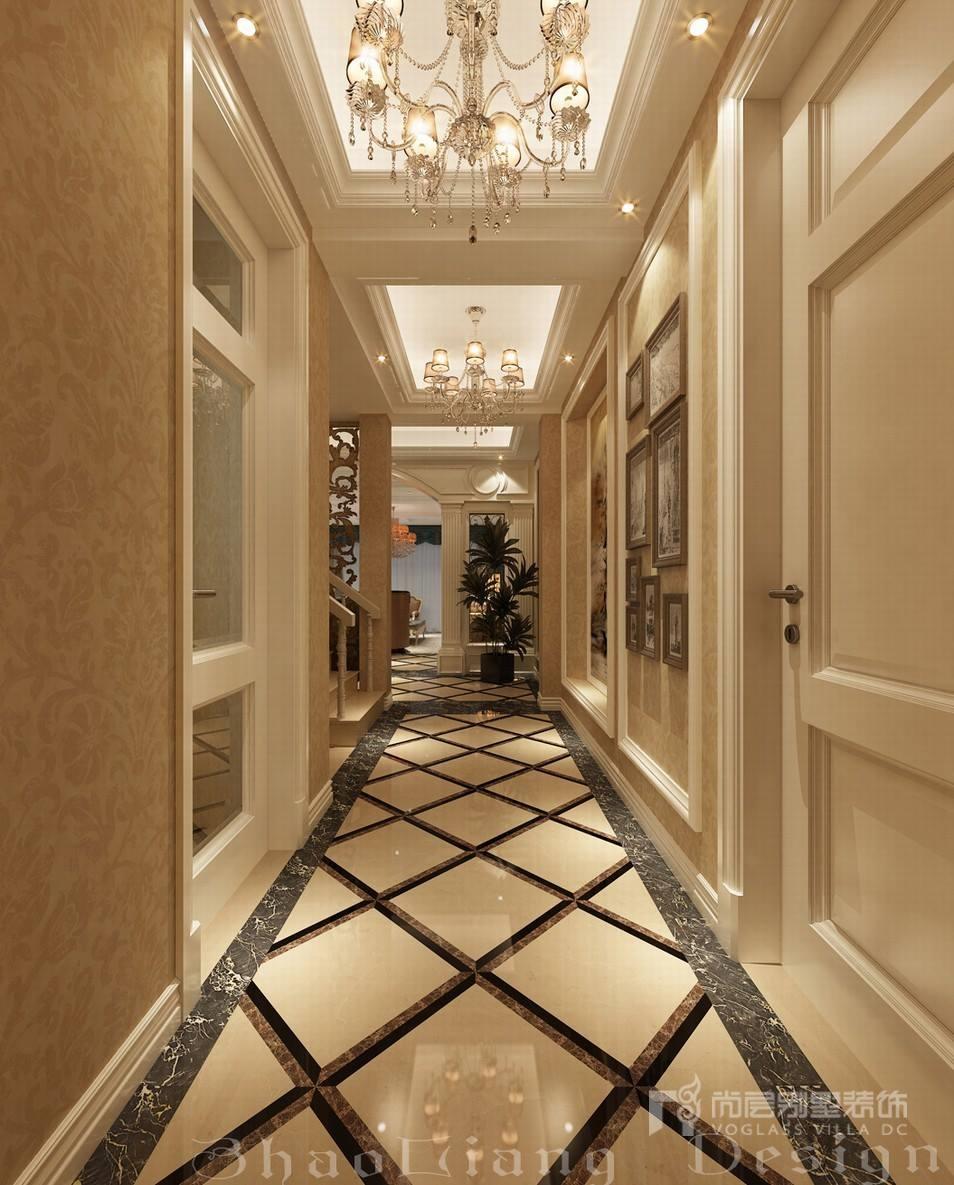 欧式风格别墅门厅走廊设计效果图