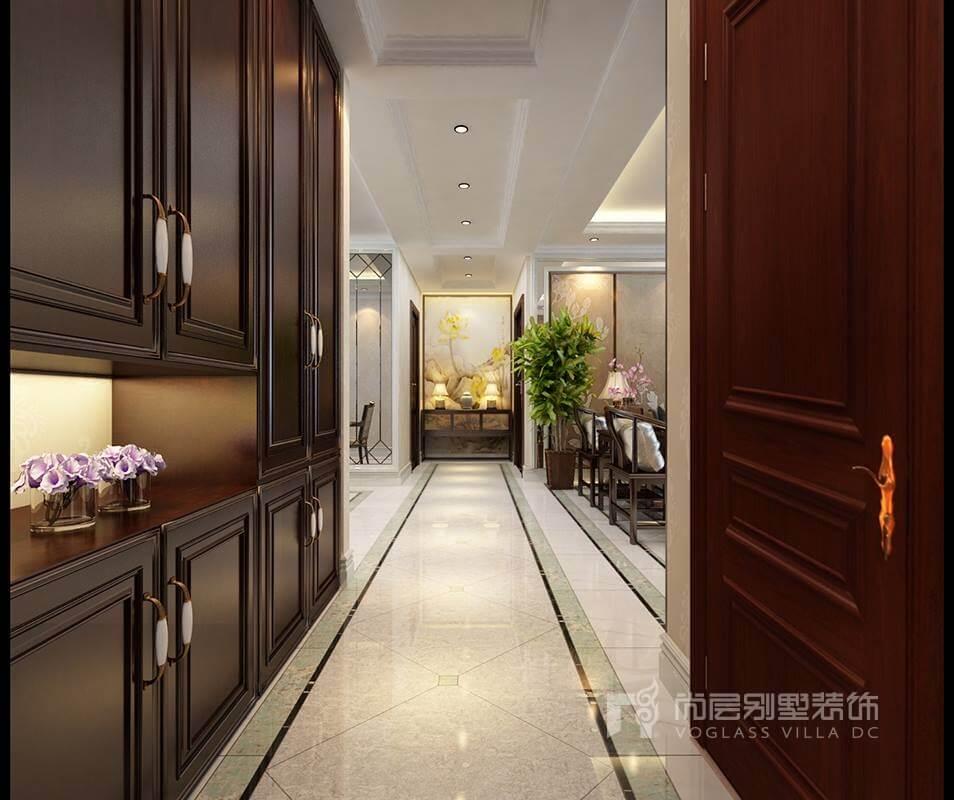 新中式别墅装修设计效果图,恍若世外桃园