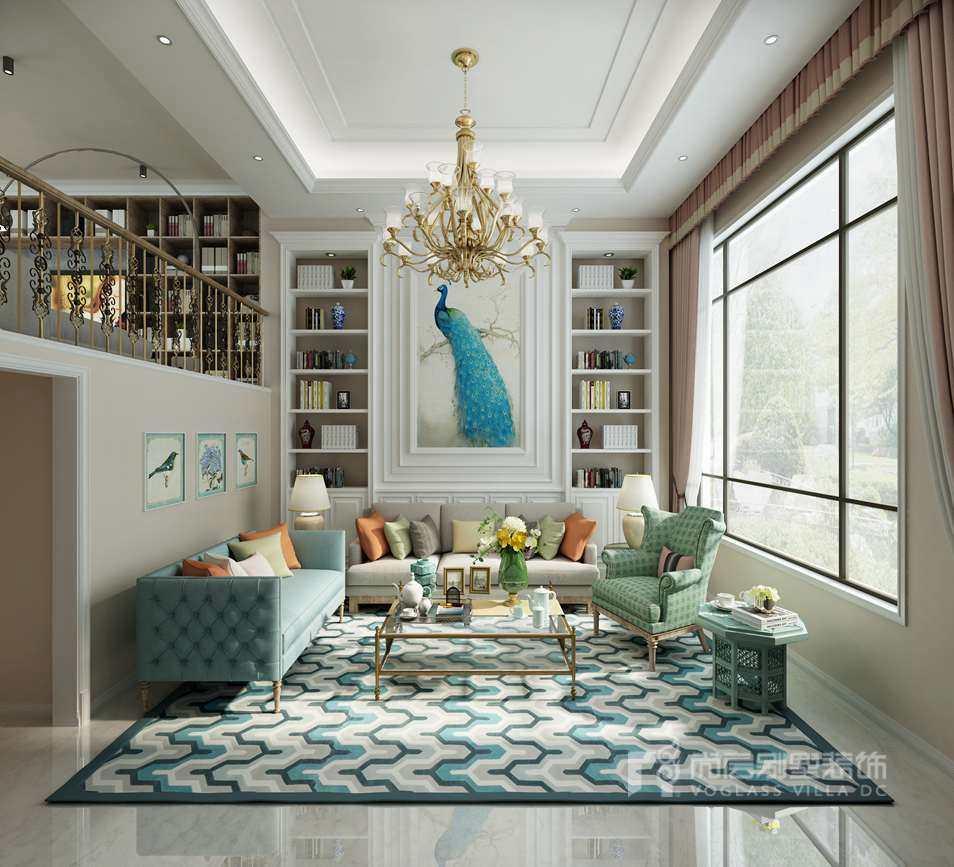 400平方米别墅装修客厅效果图