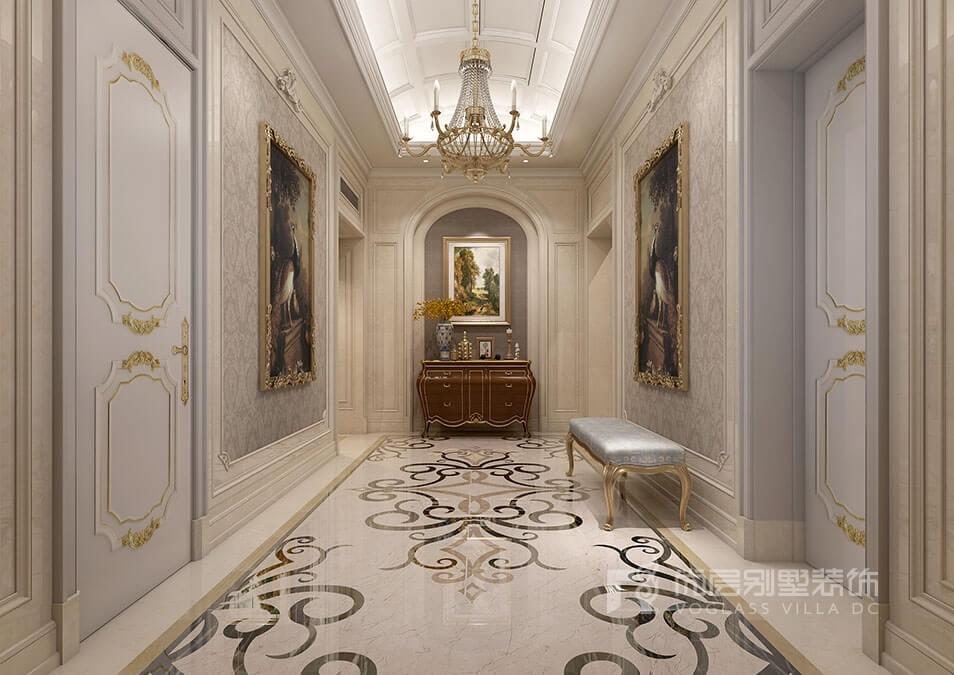 """门面"""",怎可不用心              法式风格别墅装修玄关过道里的浪漫"""