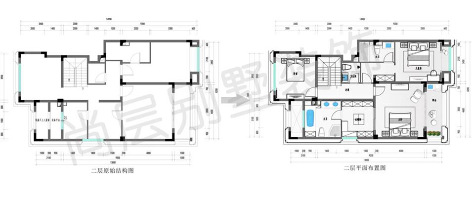 餐饮区室内过厅景观设计平面图