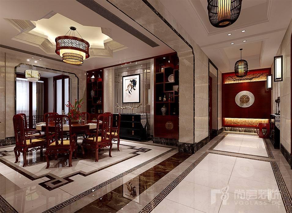 别墅红木中式装修效果图,中式韵味十足