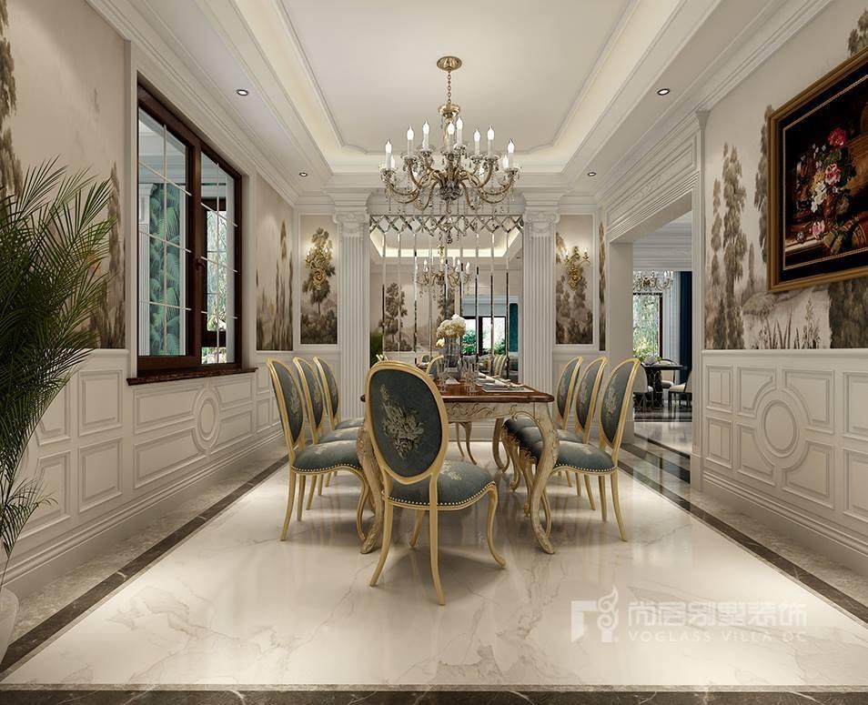 南京别墅欧式装修效果图,美得不可方物 - 南京尚层装饰
