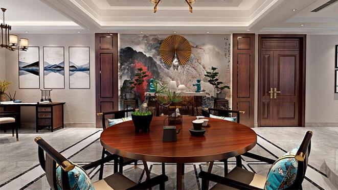 清竹园650平米新中式别墅设计