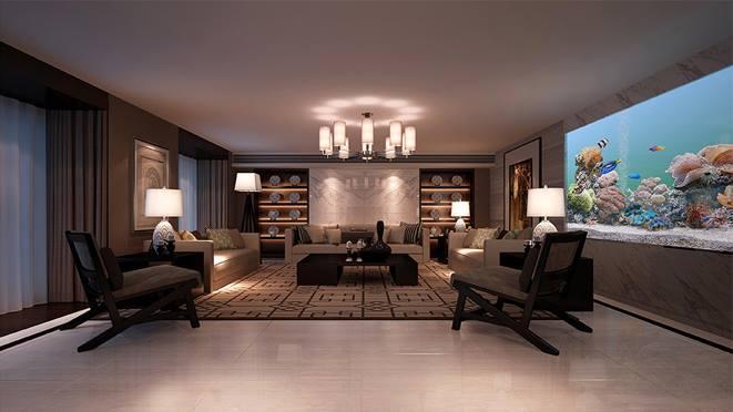 察哈尔路600平米台式风格别墅设计
