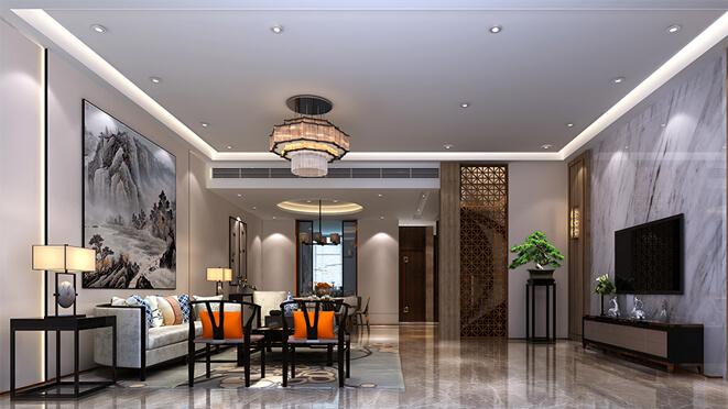 博悦兰庭340平米新中式风格别墅设计