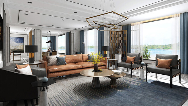 天目湖国际香村680平米别墅设计