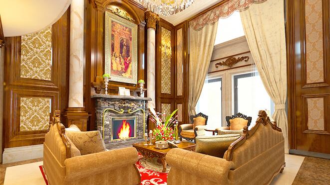 绿城庄园1000平米别墅装饰设计实景图