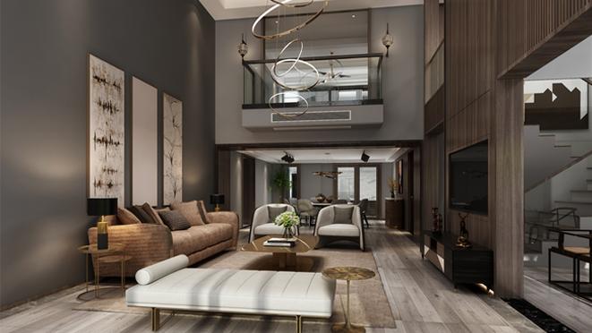 189平方米港式风格别墅设计案例——优雅与理性