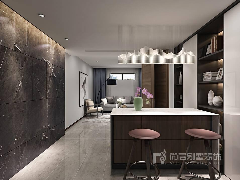 别墅现代风格装修效果图,新一代时尚都市简约风