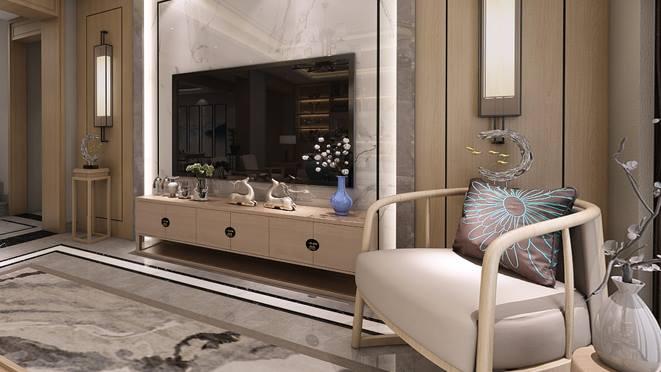 逸家园250平方米新中式别墅装修案例——古朴典雅