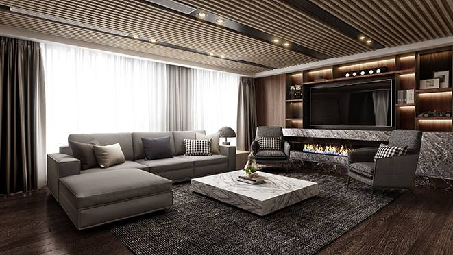 江山万里280平方米台式风格复式别墅装修案例——古典美感