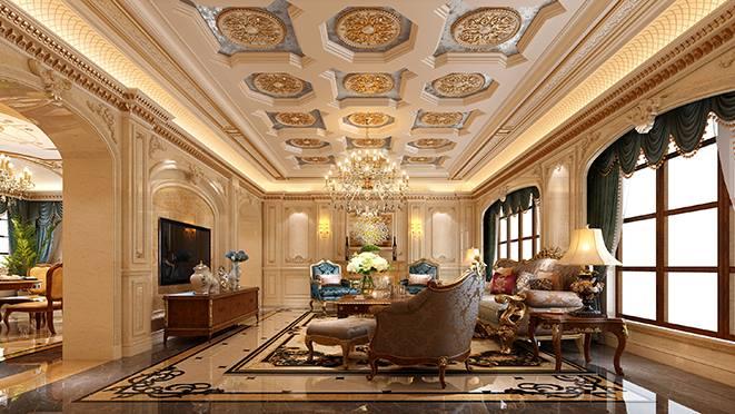 越溪梅园1000平方米法式宫廷风格别墅装修案例——华丽精美