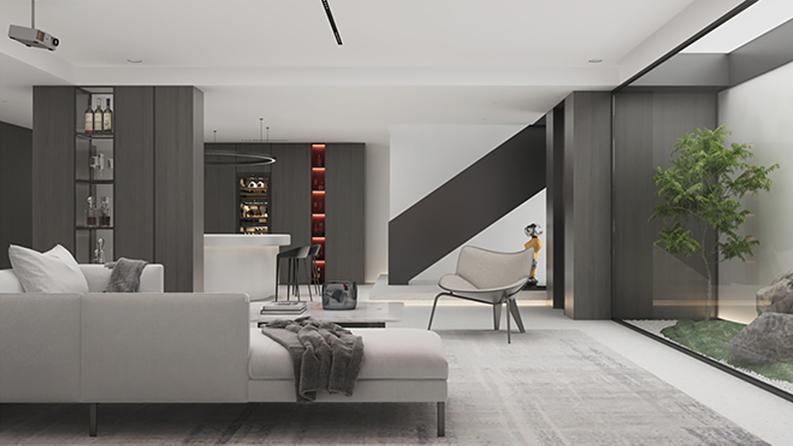 英庭别墅 小白的现代极简风格