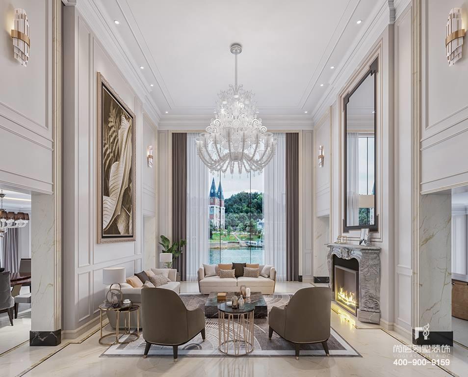 别墅设计公司现代简约风格室内装修设计效果图图片