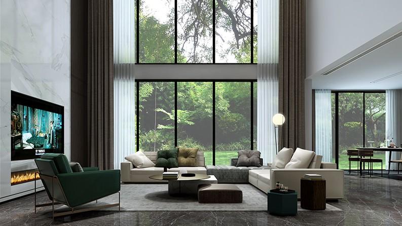 竹海美墅|现代空间中的幽静
