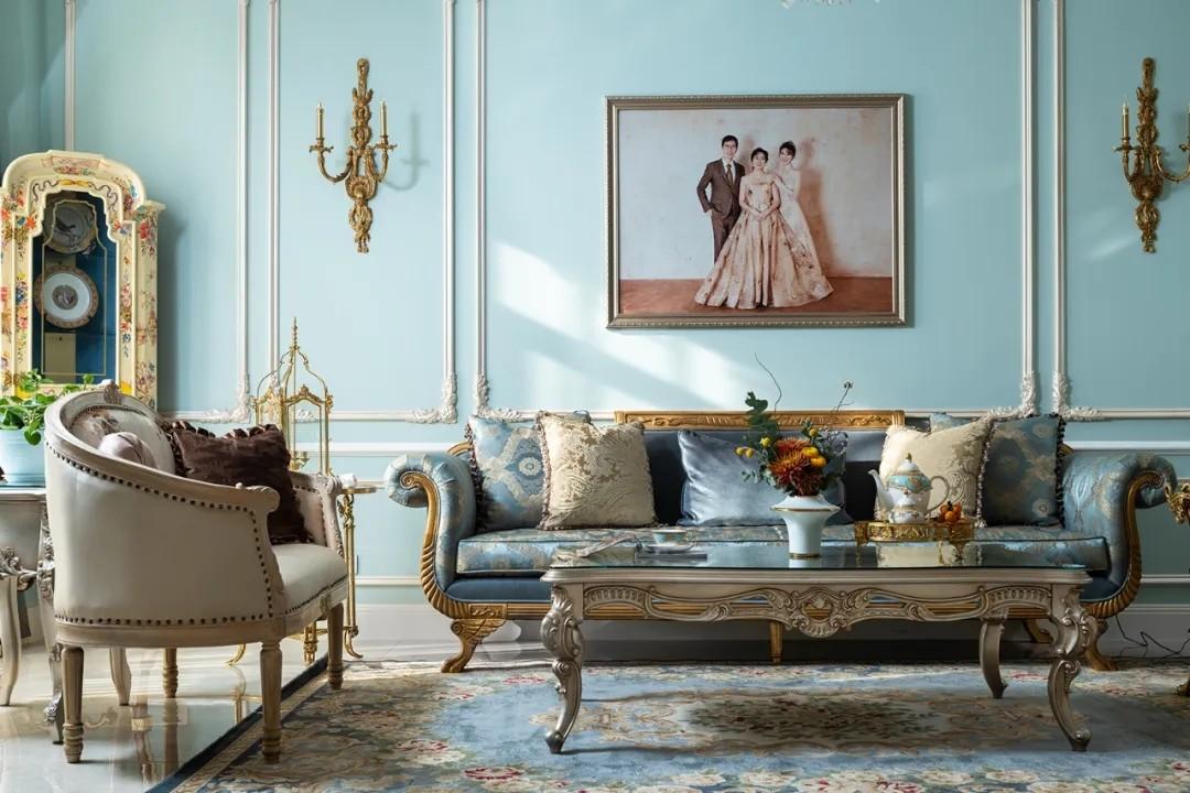 尚层装饰别墅法式风客厅装修设计