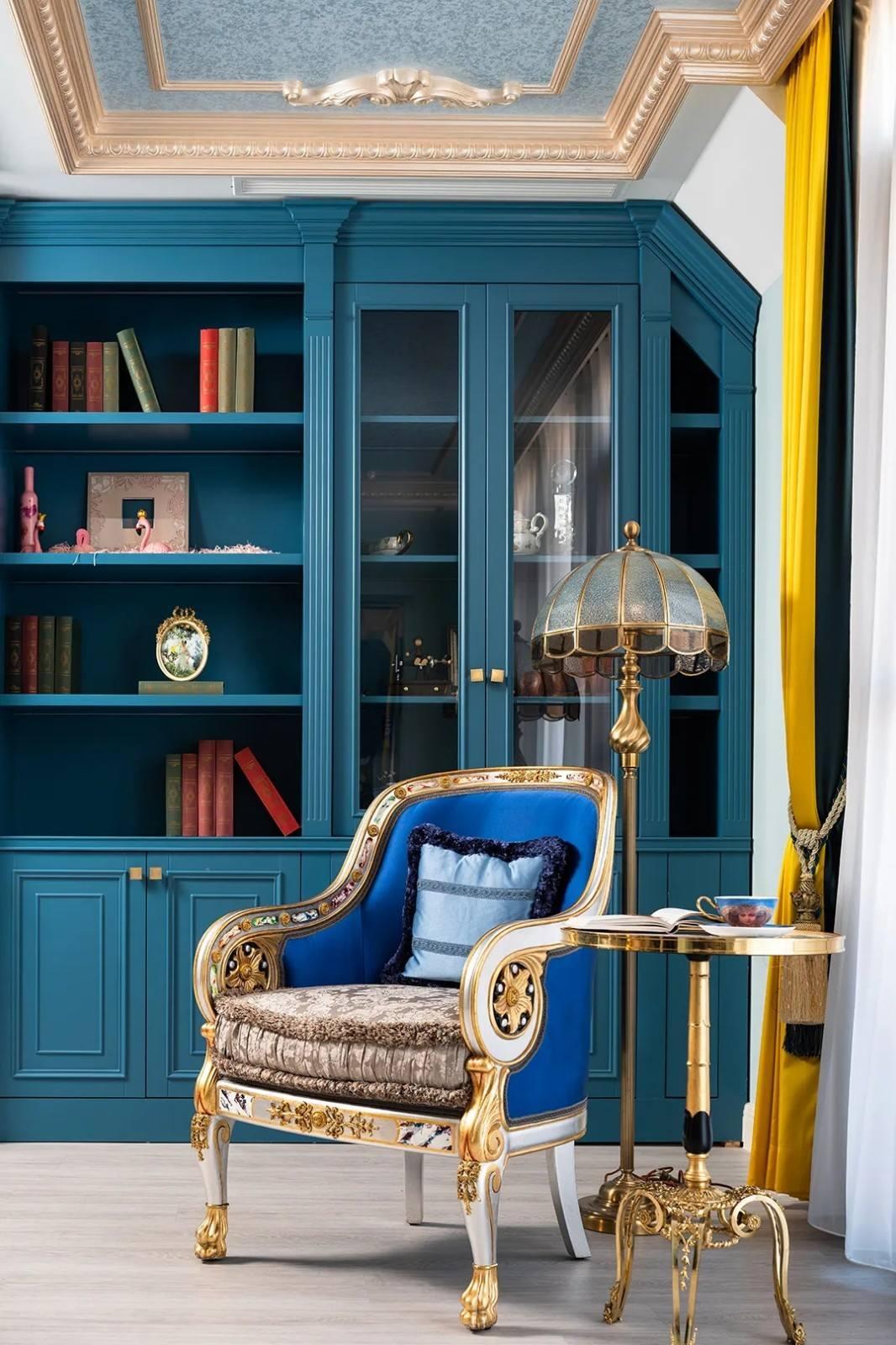 尚层装饰别墅法式风女儿书房装修设计