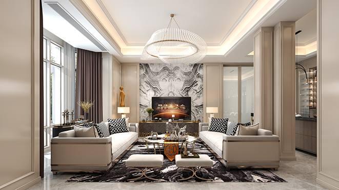 舟山700平方米君悦澜湾独栋别墅法式风格装修案例