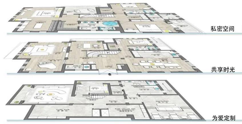 尚层别墅装饰全案空间规划平面图