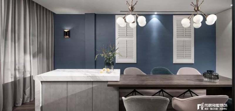 尚层装饰别墅全案设计多功能餐厅装修效果