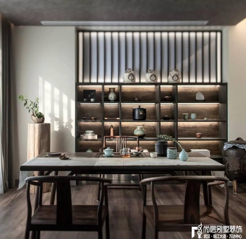 尚层装饰别墅全案设计茶室装修效果