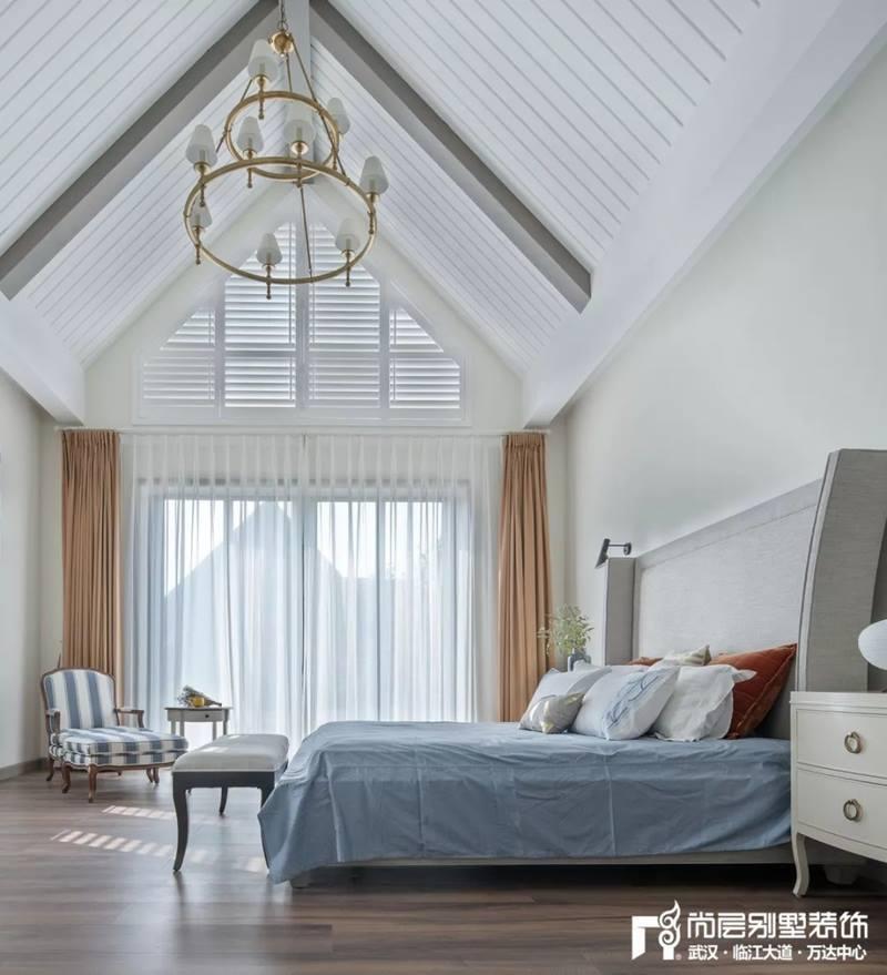 尚层装饰别墅全案设计主卧室装修效果