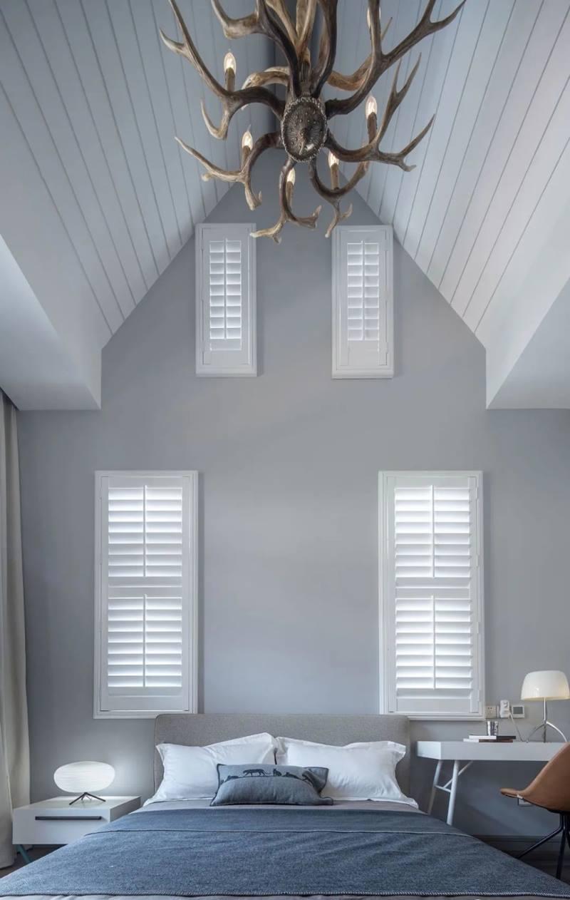 尚层装饰别墅全案设计主卧室吊顶装修效果