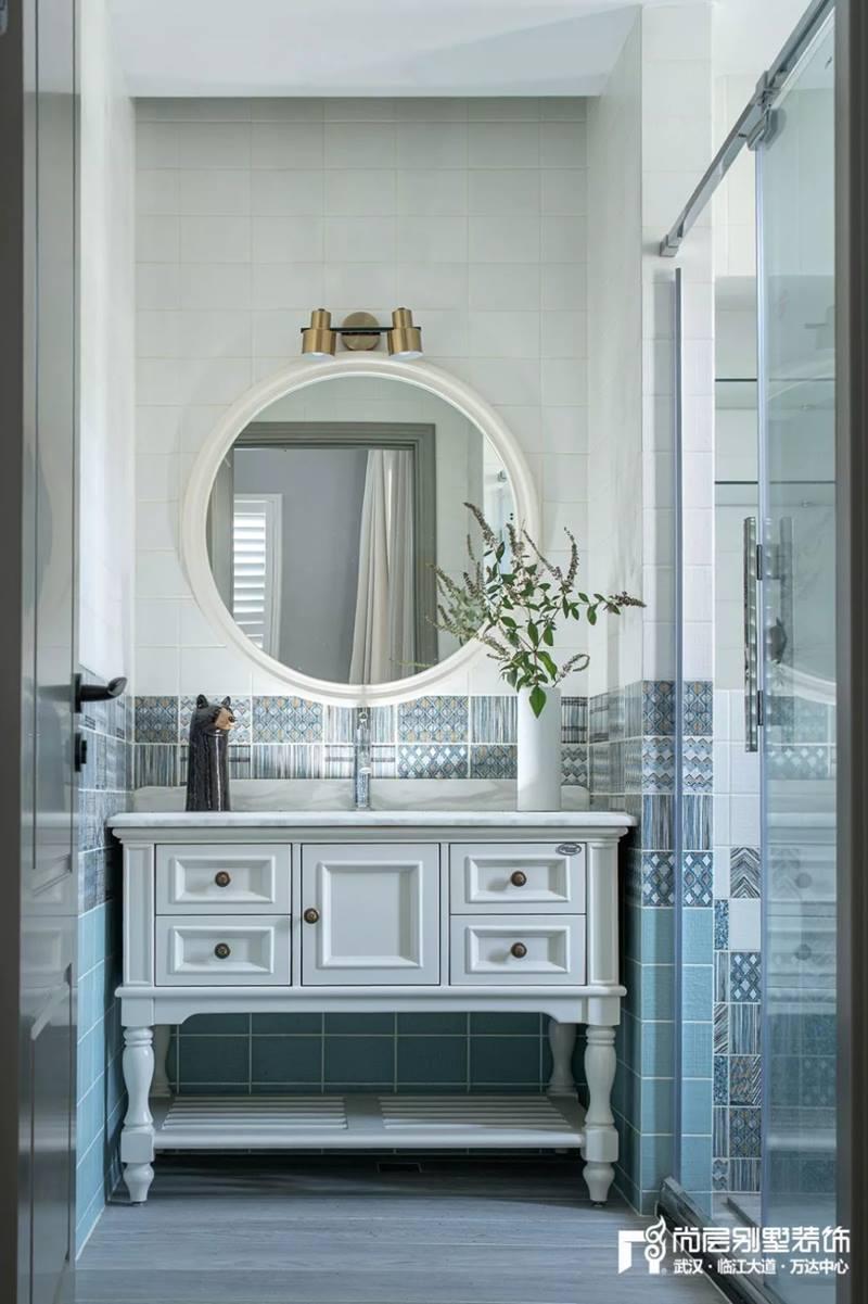 尚层装饰别墅全案设计主卧室洗手台装修效果