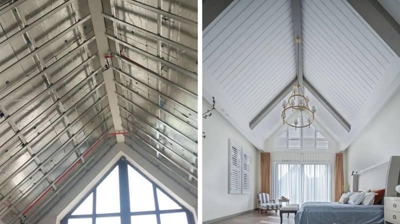 尚层装饰别墅全案设计吊顶工艺装修效果