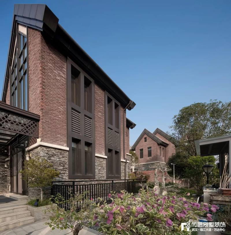 尚层装饰别墅全案设计花园外景装修实景效果