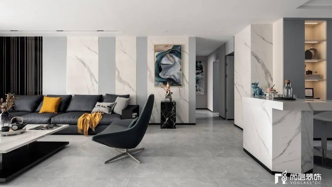 尚层装饰武汉别墅装修业主家客厅及走廊设计