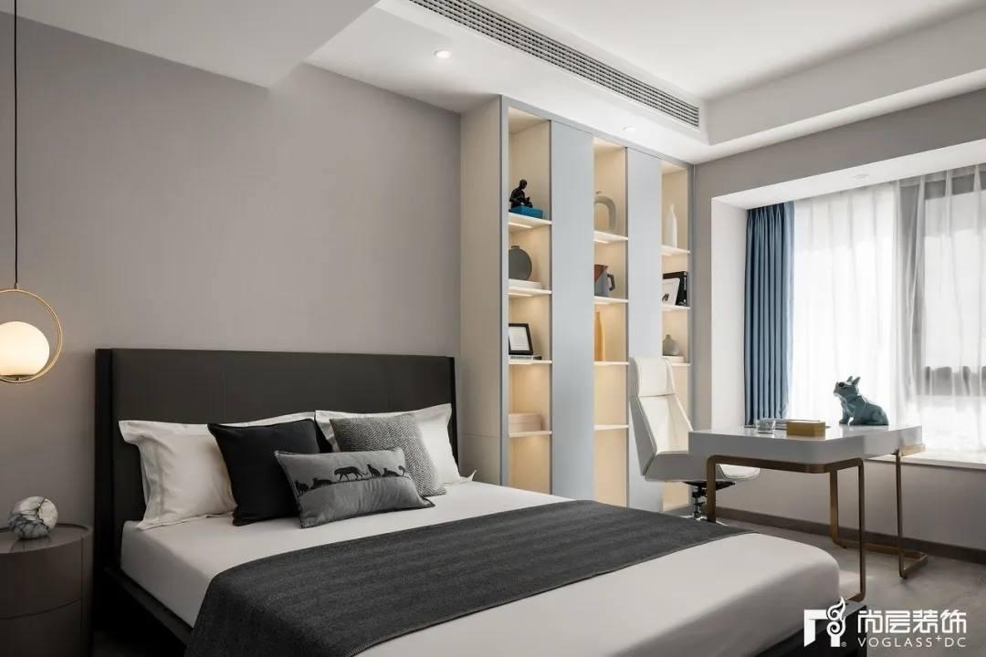 尚层装饰武汉别墅装修业主家卧室空间设计