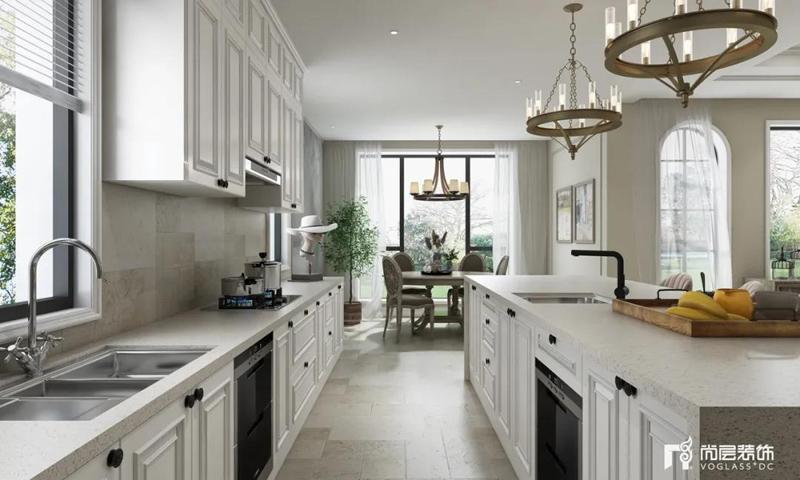 尚层装饰别墅装修作品厨房装修效果图