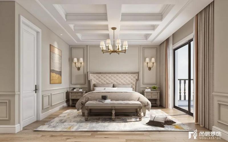 尚层装饰别墅装修作品卧室装修效果图
